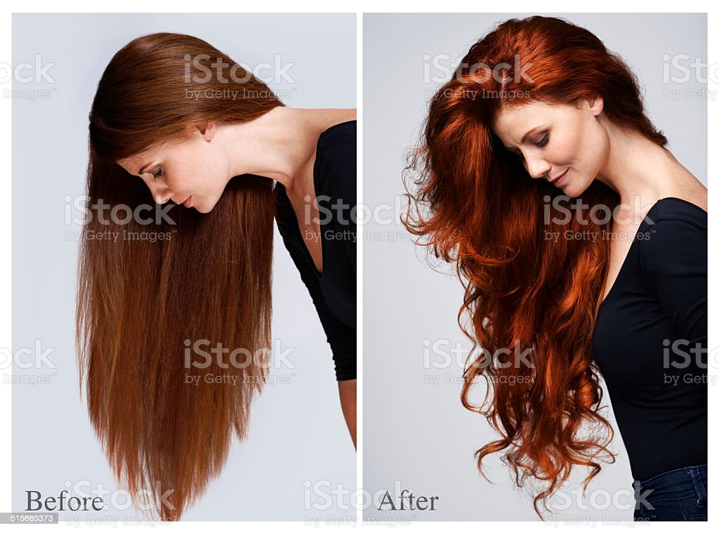 Nourish your hair stock photo