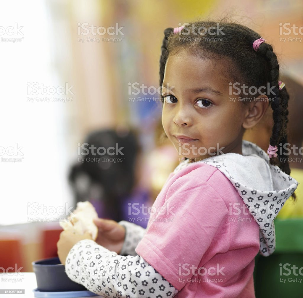 Nourishment is important for her growth royalty-free stock photo