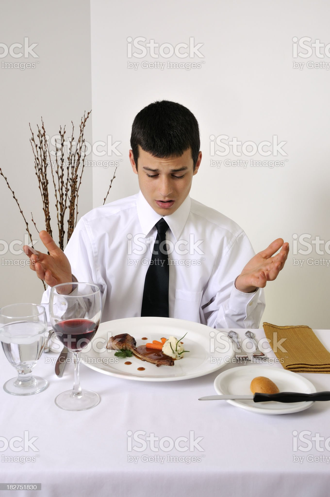 Nouvelle Cuisine: Is That All I Get? royalty-free stock photo