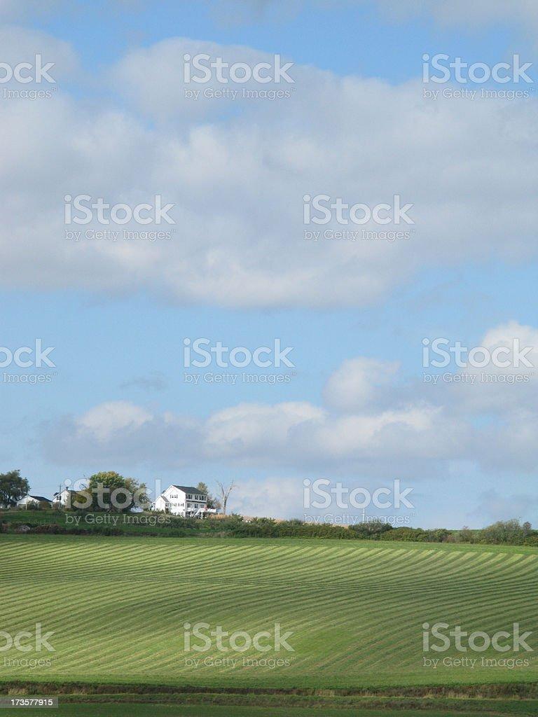 Nova Scotia Farmland. stock photo
