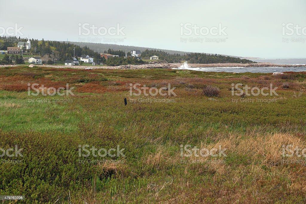 Nova Scotia Fishing Village stock photo