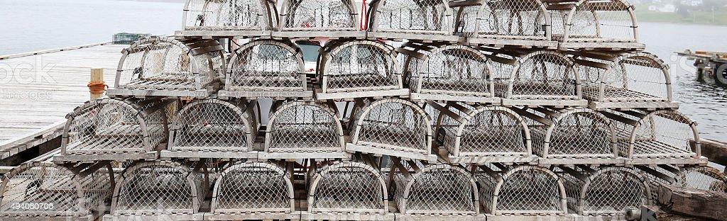 Nova Scotia Lobster Traps, Canada stock photo