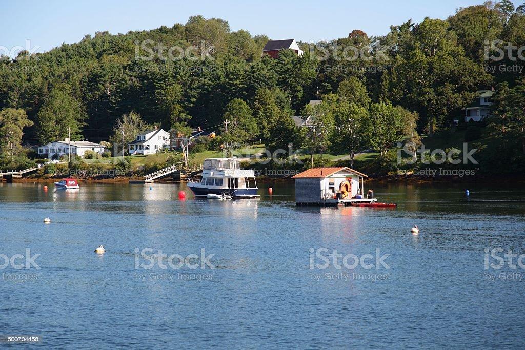 Nova Scotia Scenery. Picture taken at Mahone Bay stock photo