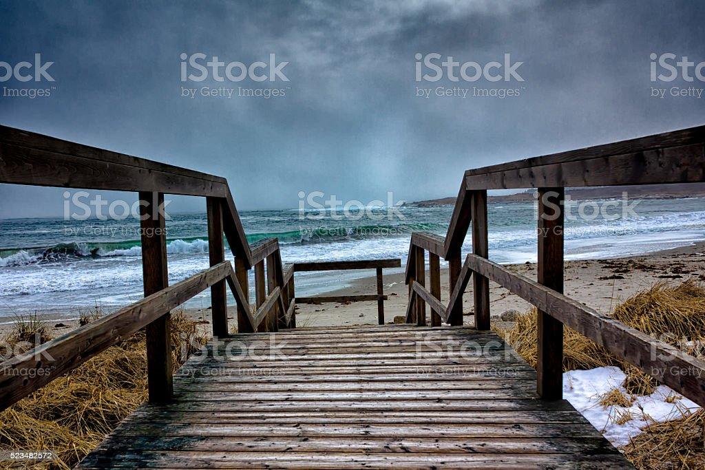 Nova Scotia Seaside Drama stock photo