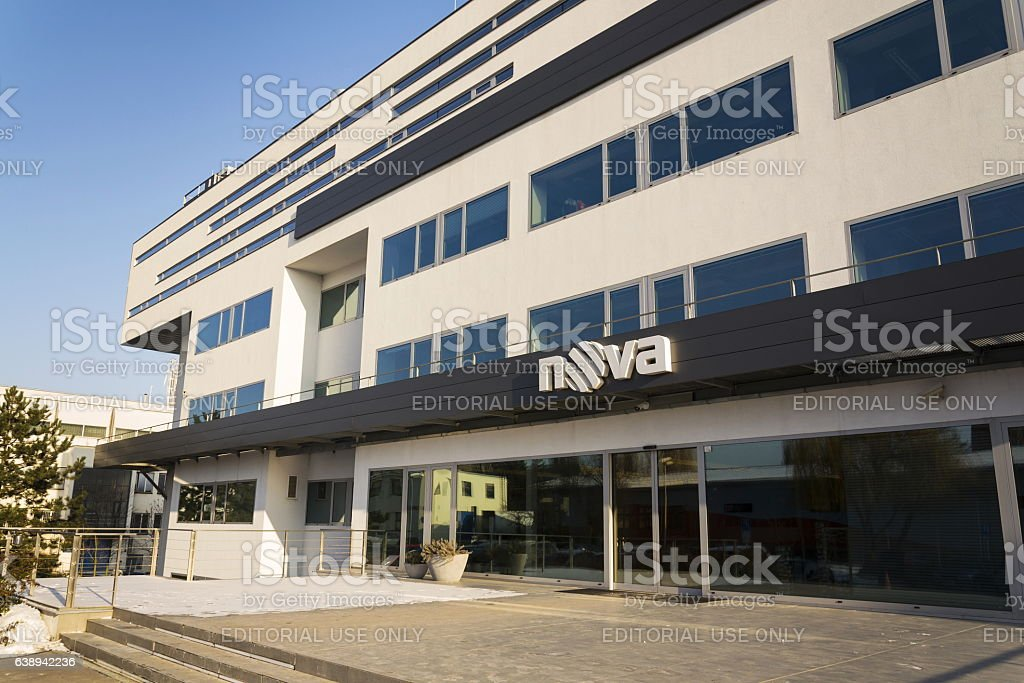Nova television CME company logo on the headquarters building stock photo