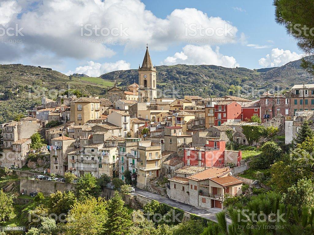 Novara di Sicilia mountain city in Sicily, Italy stock photo