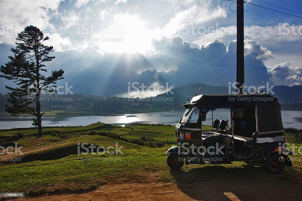 novaraelia, Sri Lanka,tuk tuk, taxi, stock photo