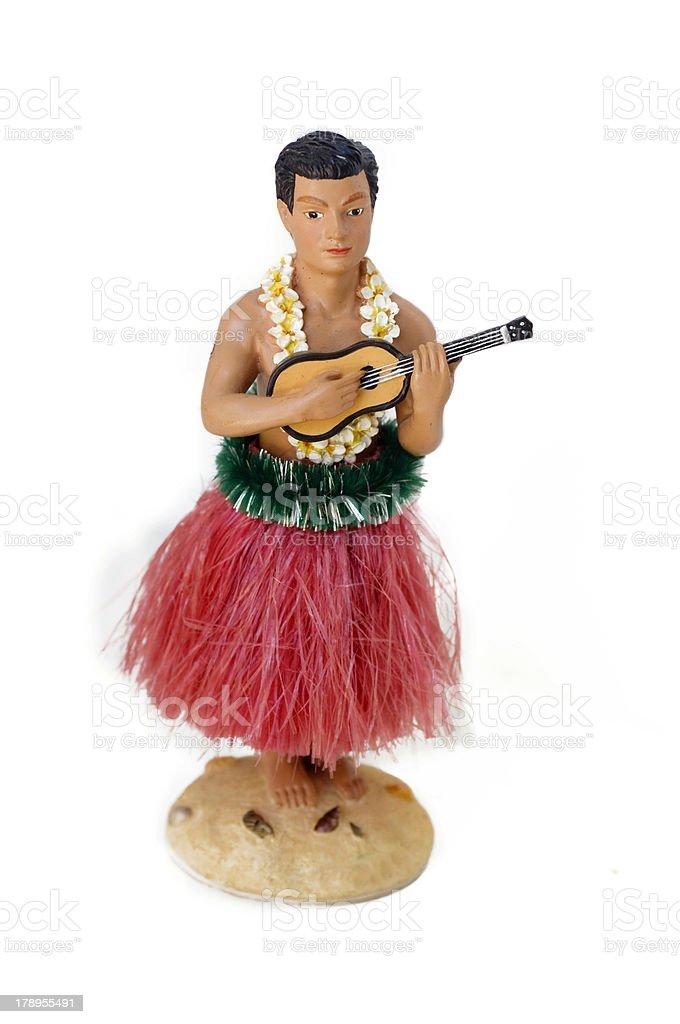 Novelty Souvenir Hawaiian Male Performer stock photo