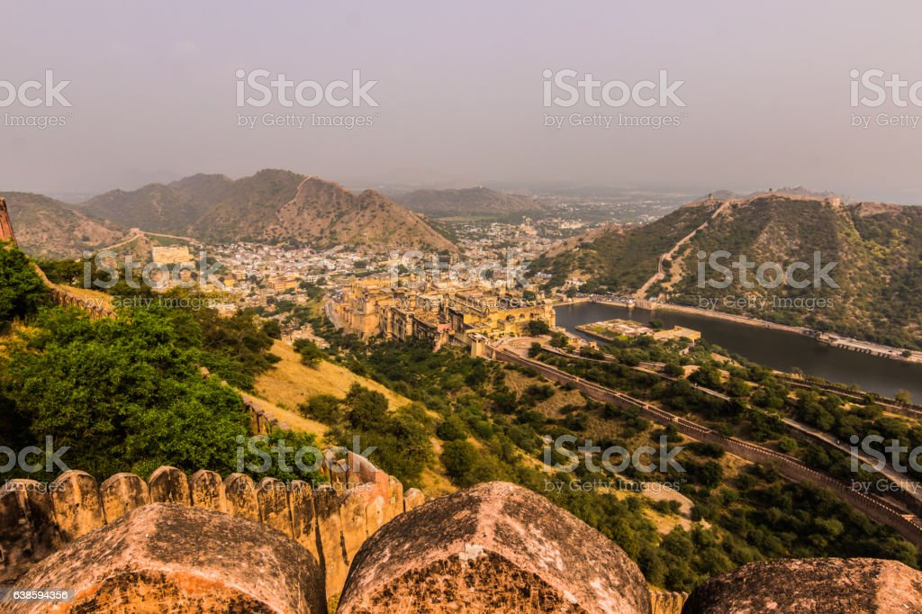 November 04, 2014: The Amber Fort in Jaipur, India stock photo