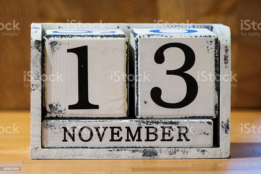 November 13 stock photo