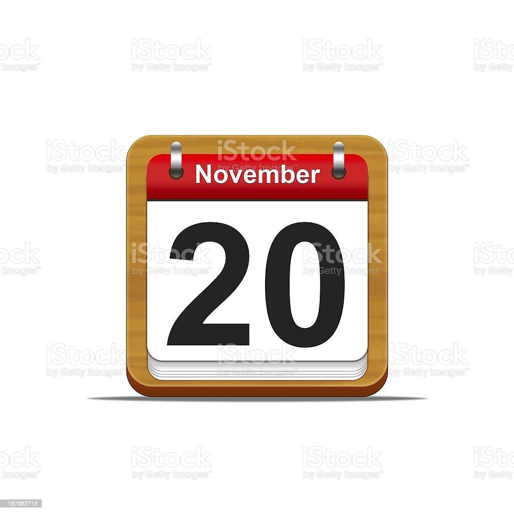 November 20. stock photo