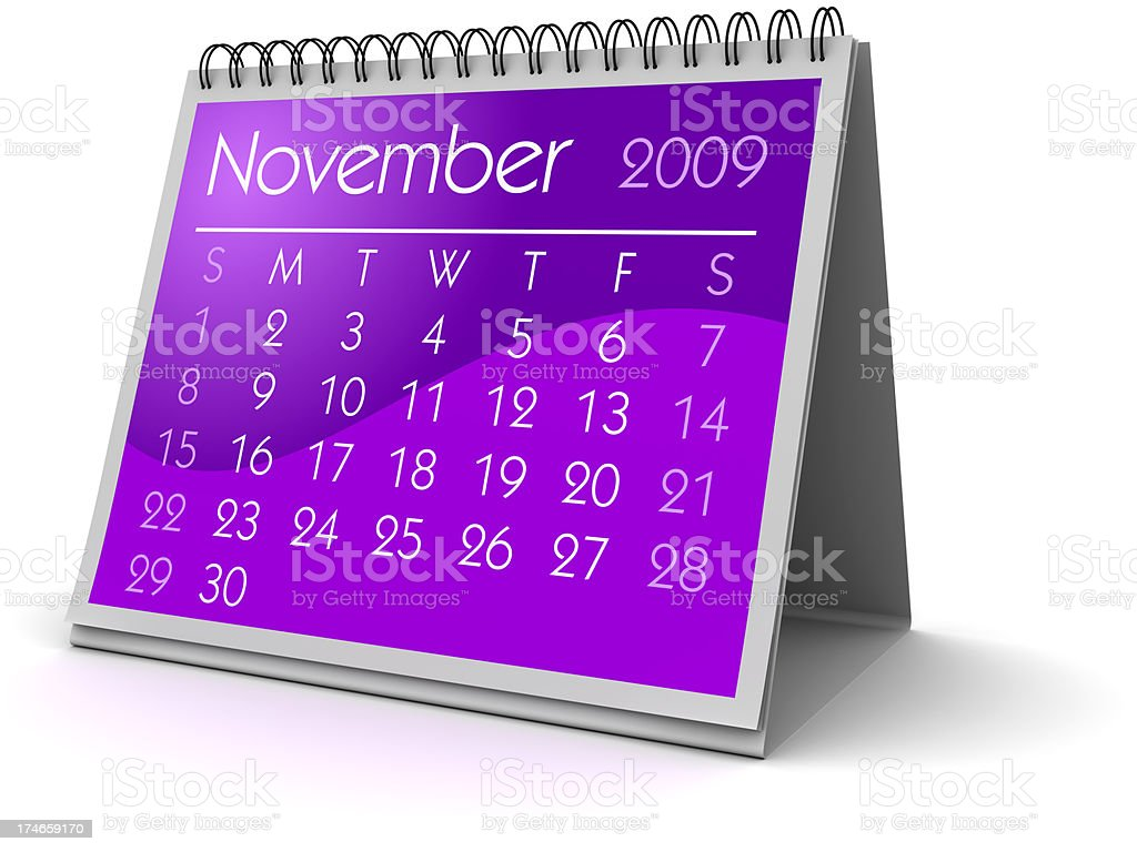 November 2009 royalty-free stock photo