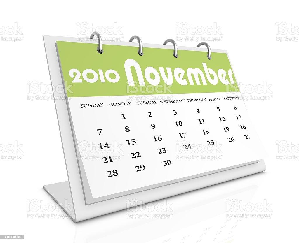 november 2010 royalty-free stock photo