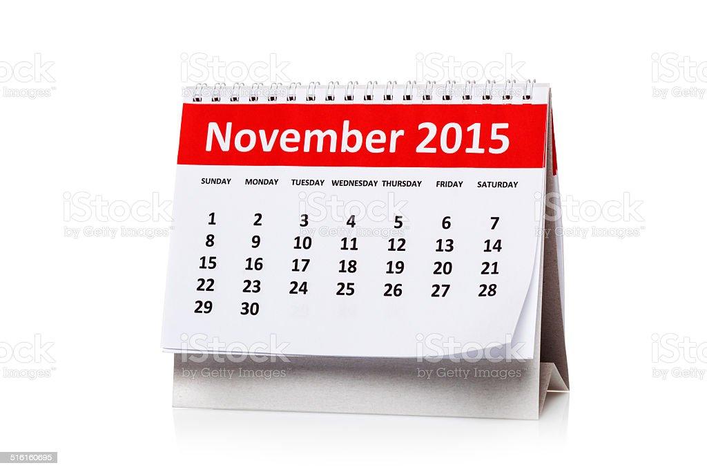 November 2015 stock photo
