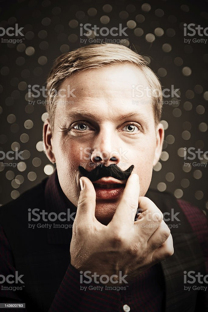 November and time for mustaches royalty-free stock photo