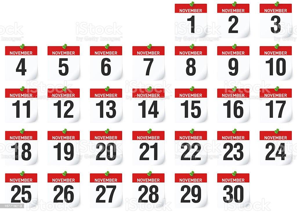 November - Calendar stock photo
