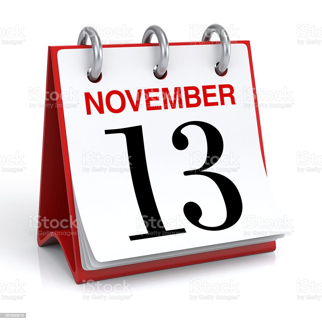 November Calendar royalty-free stock photo
