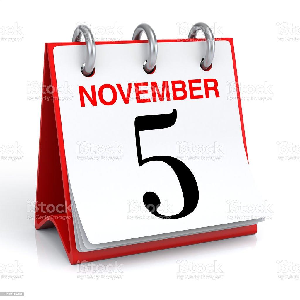 November Calendar stock photo