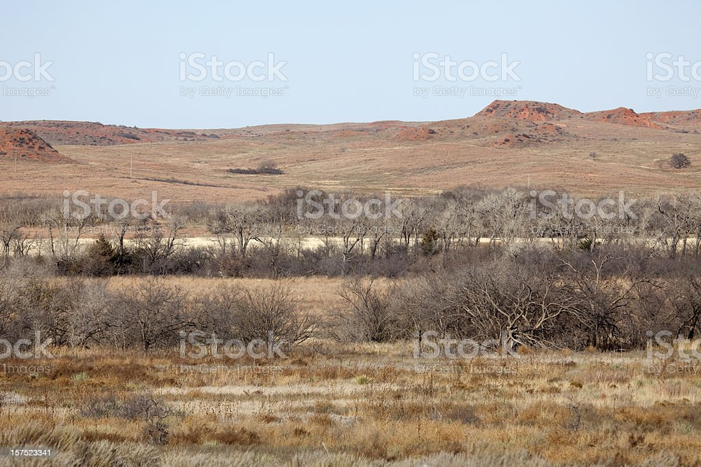 November Day at Washita Battlefield National Historic Site, Oklahoma royalty-free stock photo
