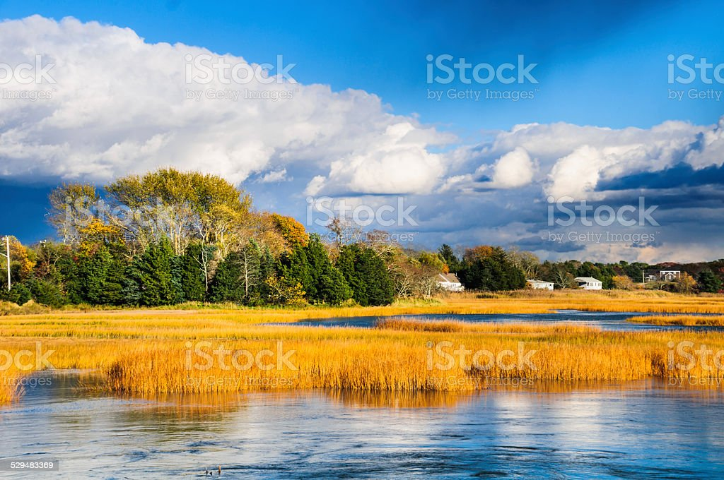 November Storm Clouds stock photo