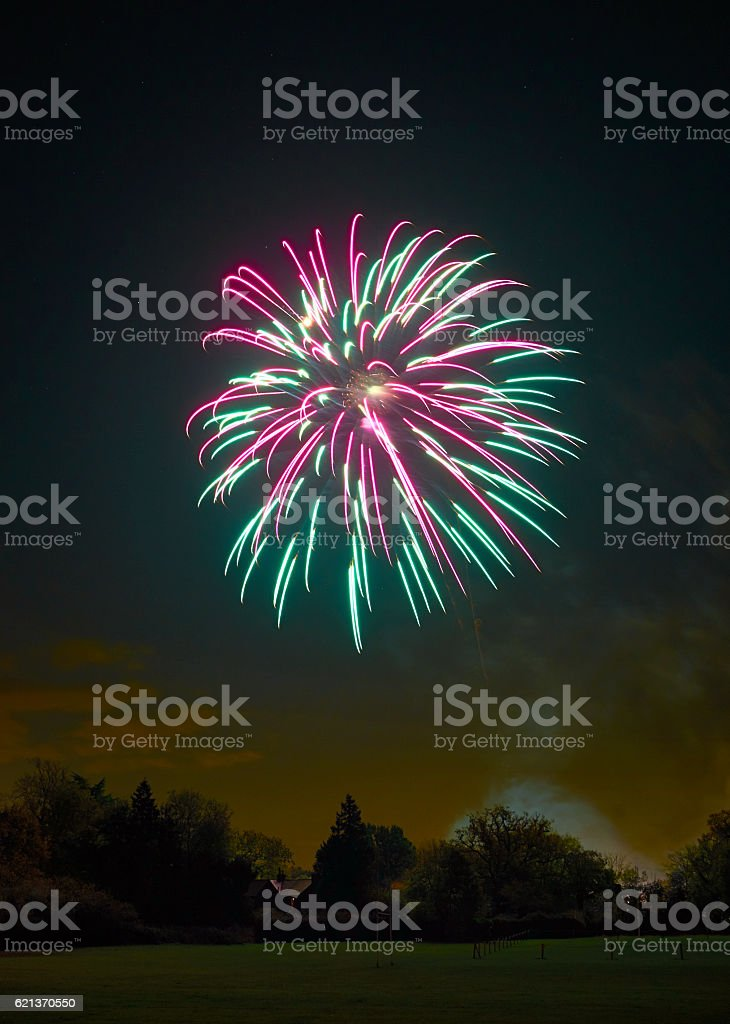 November The Fifth Fireworks stock photo