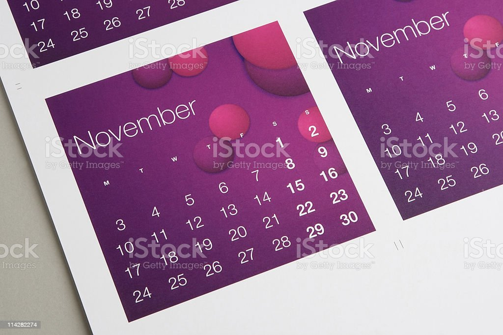 Novemeber... royalty-free stock photo