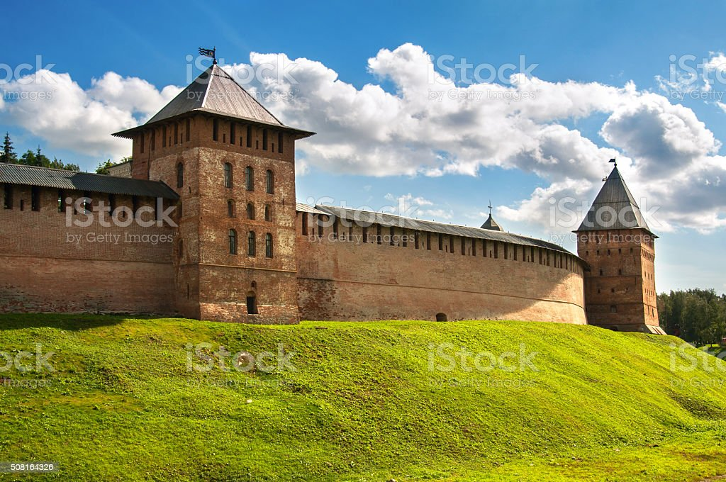 Novgorod fortress stock photo