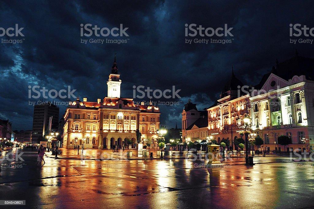 Novi Sad downtown stock photo