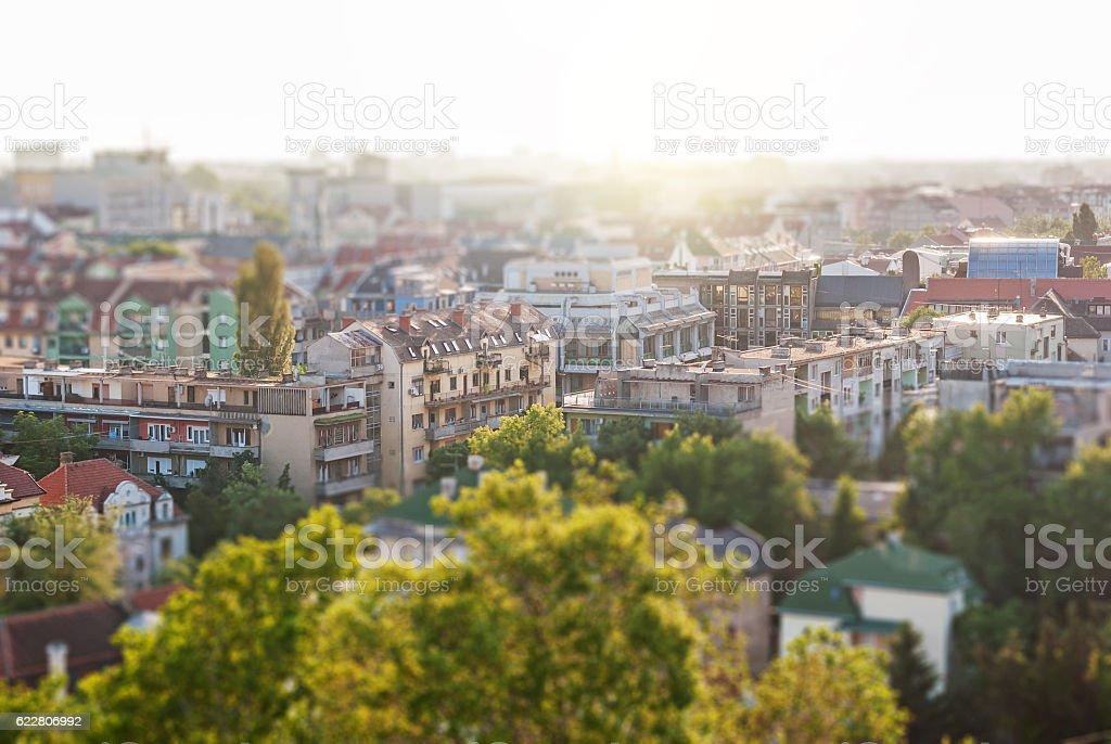Novi Sad from a height stock photo