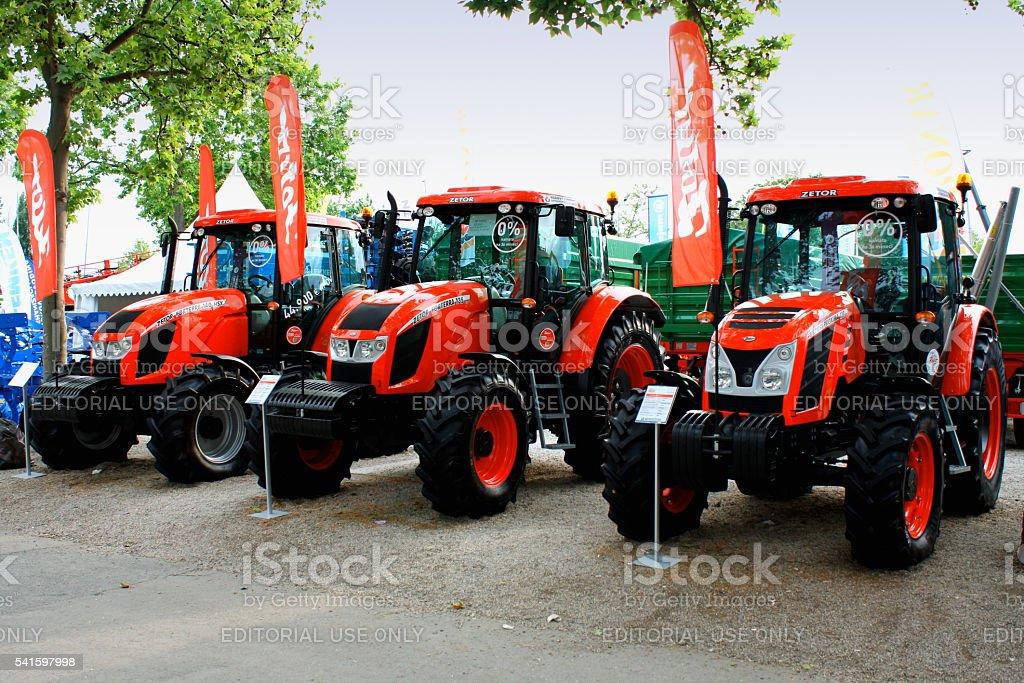 Novi Sad, Serbia: May 11, 2015 - Zetor tractors stock photo