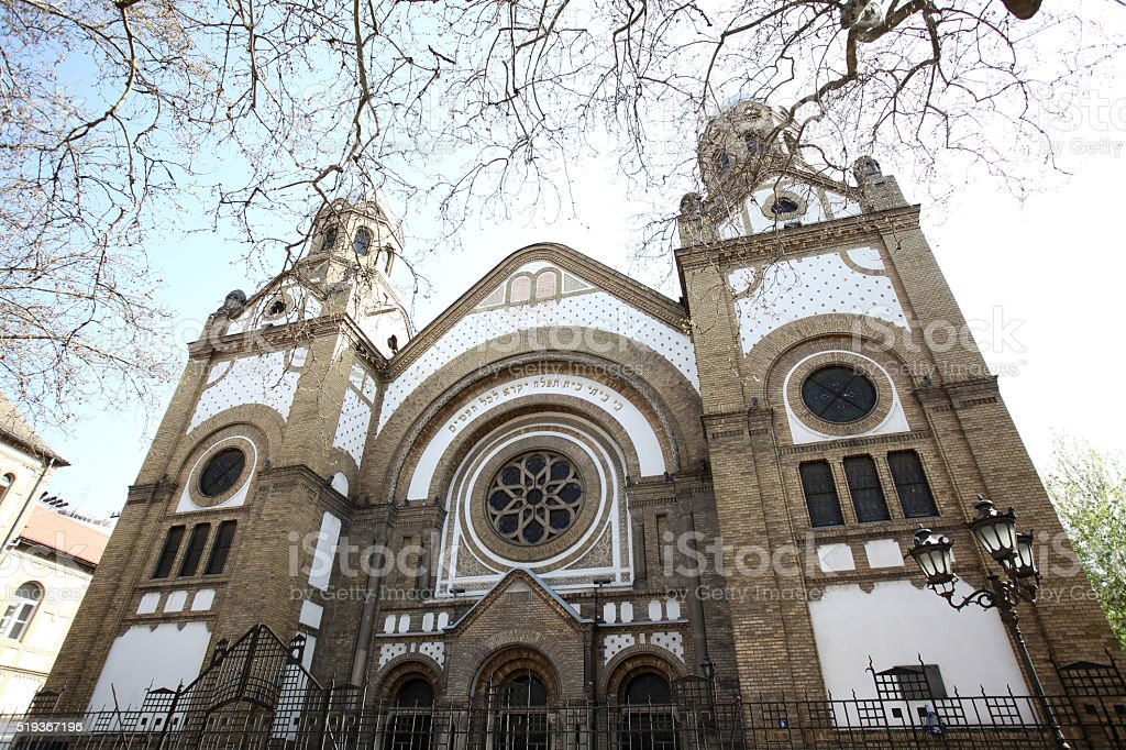 Novi Sad synagogue is one of four synagogues stock photo
