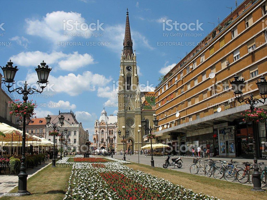 Novi Sad-Serbia, the future European capital of culture in 2021. stock photo