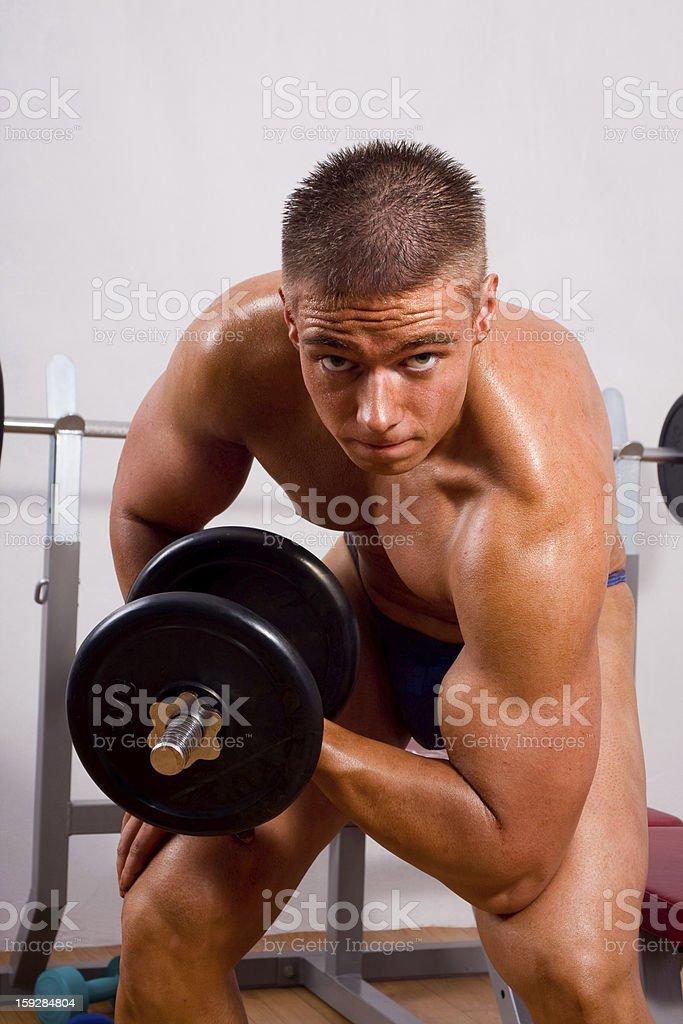 novice bodybuilder training royalty-free stock photo