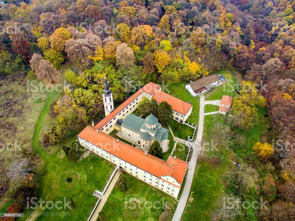 Novo Hopovo monastery Irig stock photo