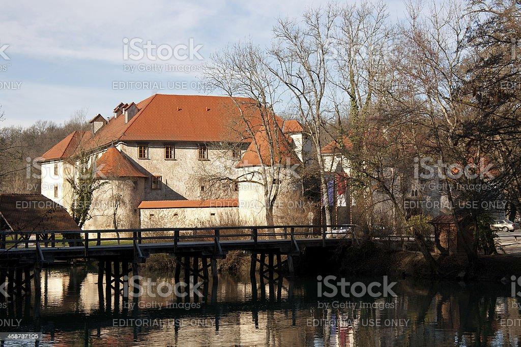 Novo Mesto, Otocec Castle Park - Slovenia stock photo