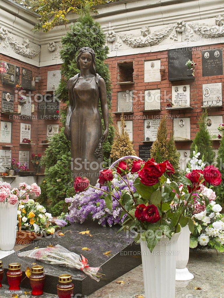 Novodevichy Cemetery - Grave of Raisa Gorbacheva stock photo
