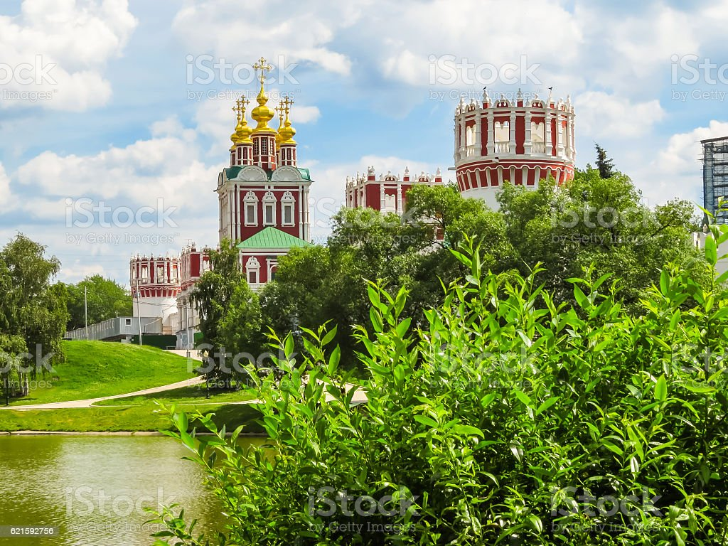 Novodevichy Convent, Moscow, Russia stock photo