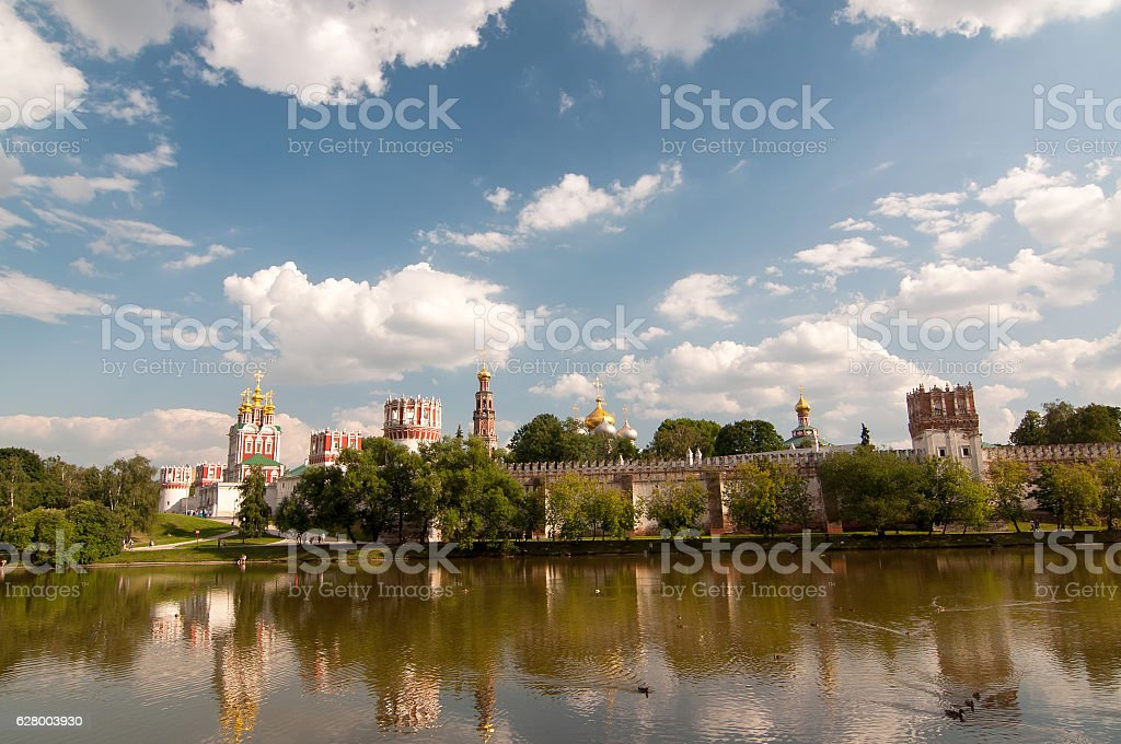 Novodevichy Convent, Moscow. UNESCO World Heritage Site. stock photo