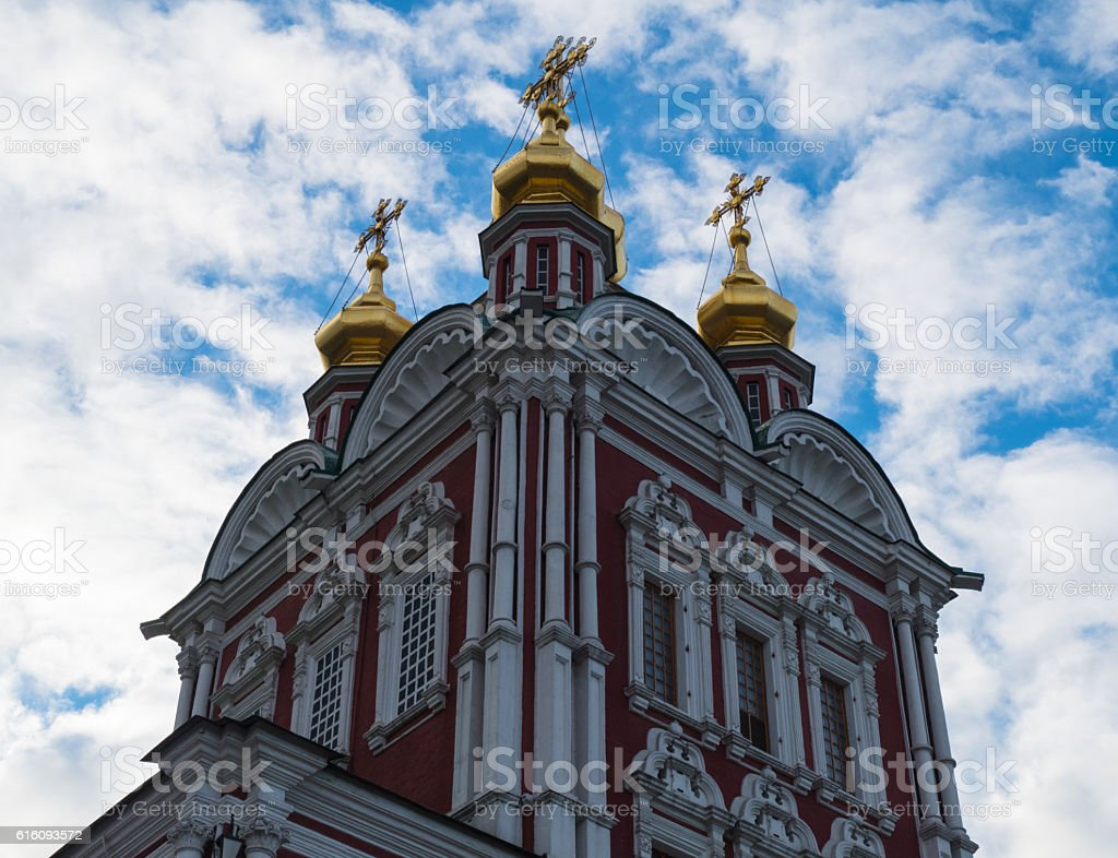 Novodevichy Convent tower stock photo