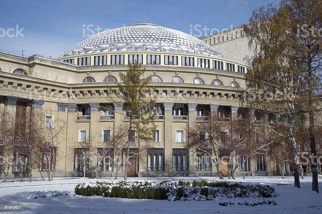 Novosibirsk opera stock photo