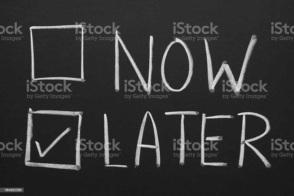 Now and Later Check Boxes royalty-free stock photo