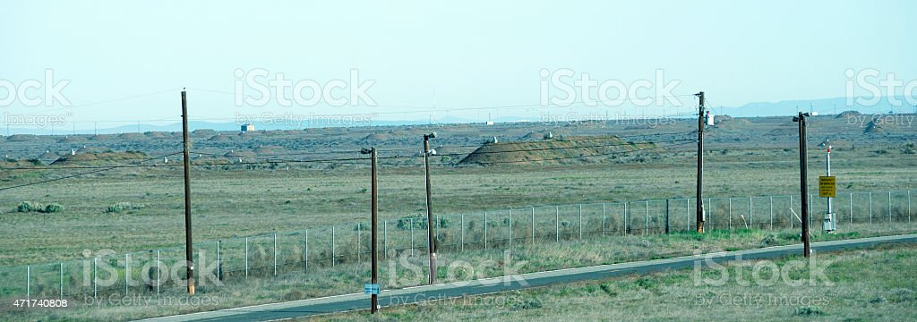 Now closed Umatilla Chemical Depot in northeastern Oregon stock photo