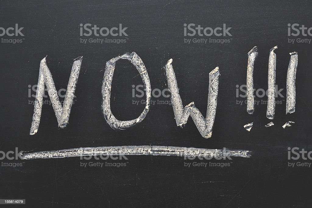 now concept royalty-free stock photo