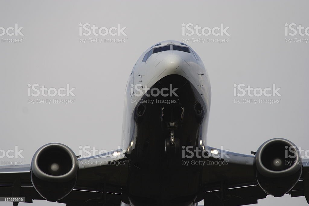 Now departing royalty-free stock photo