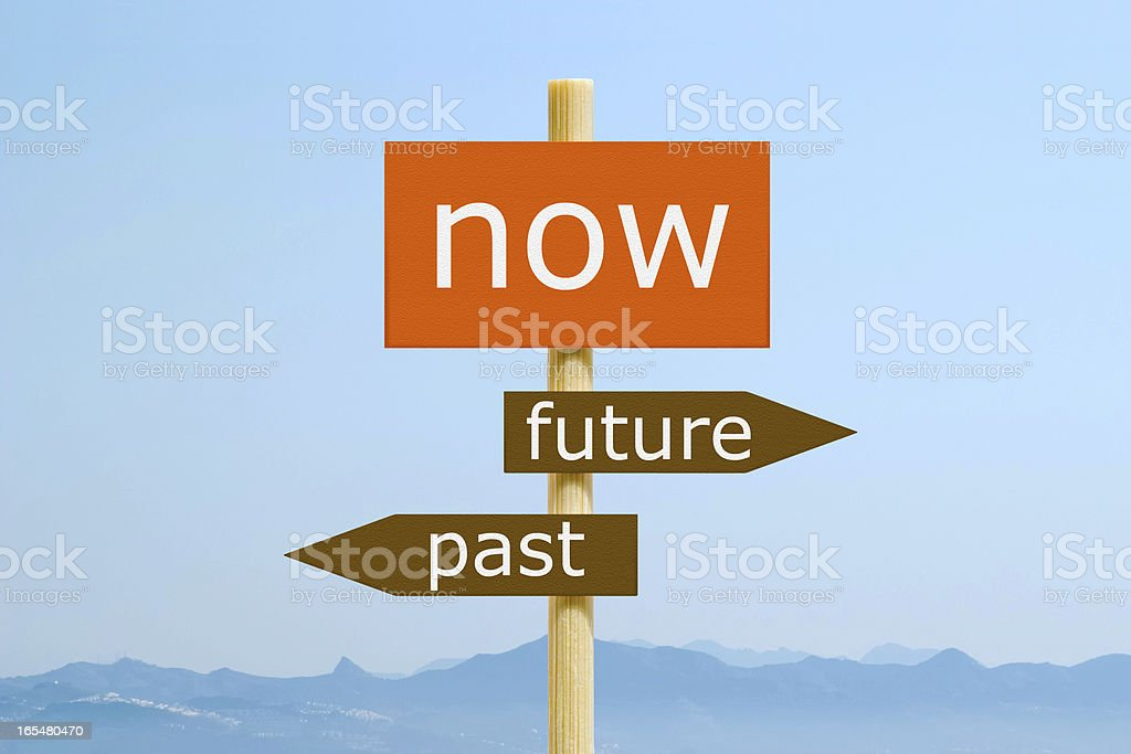 Now Future Past royalty-free stock photo