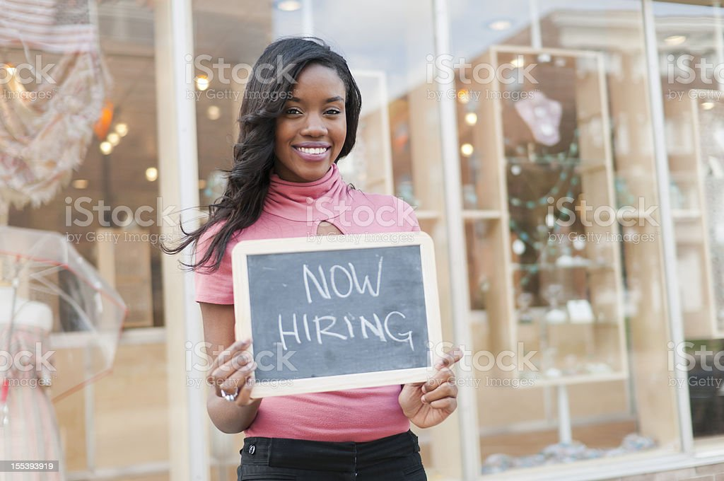 Now Hiring stock photo