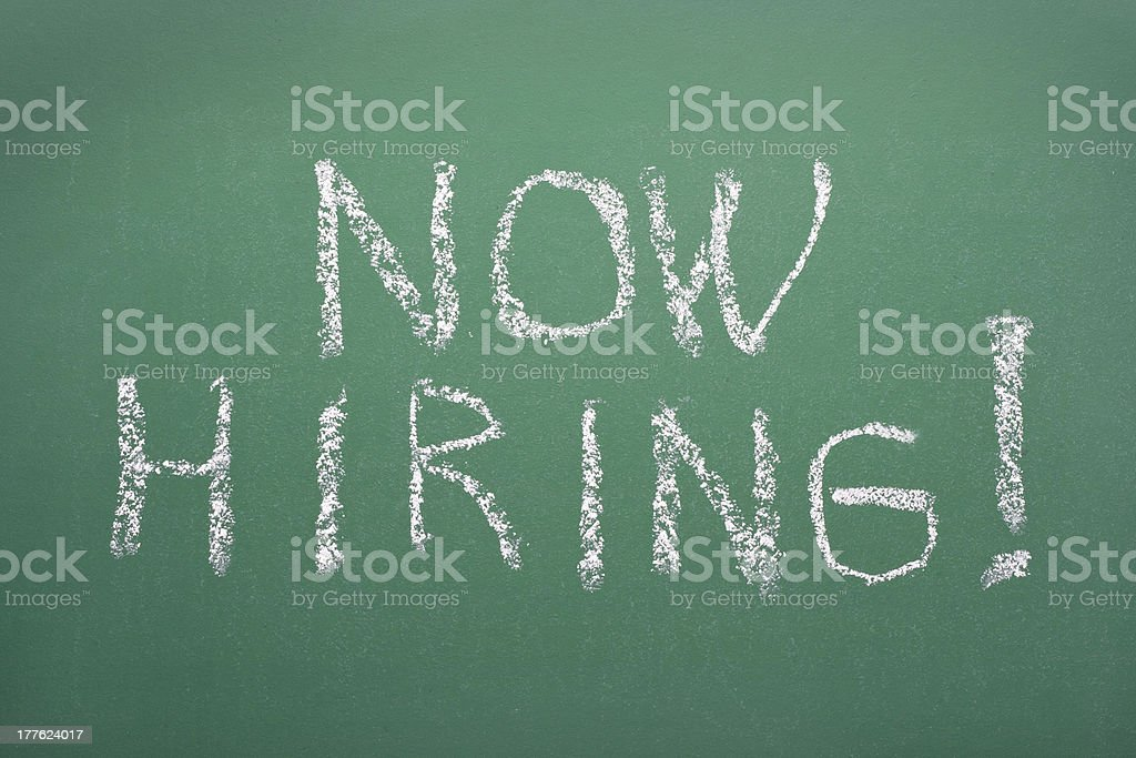 Now hiring! royalty-free stock photo
