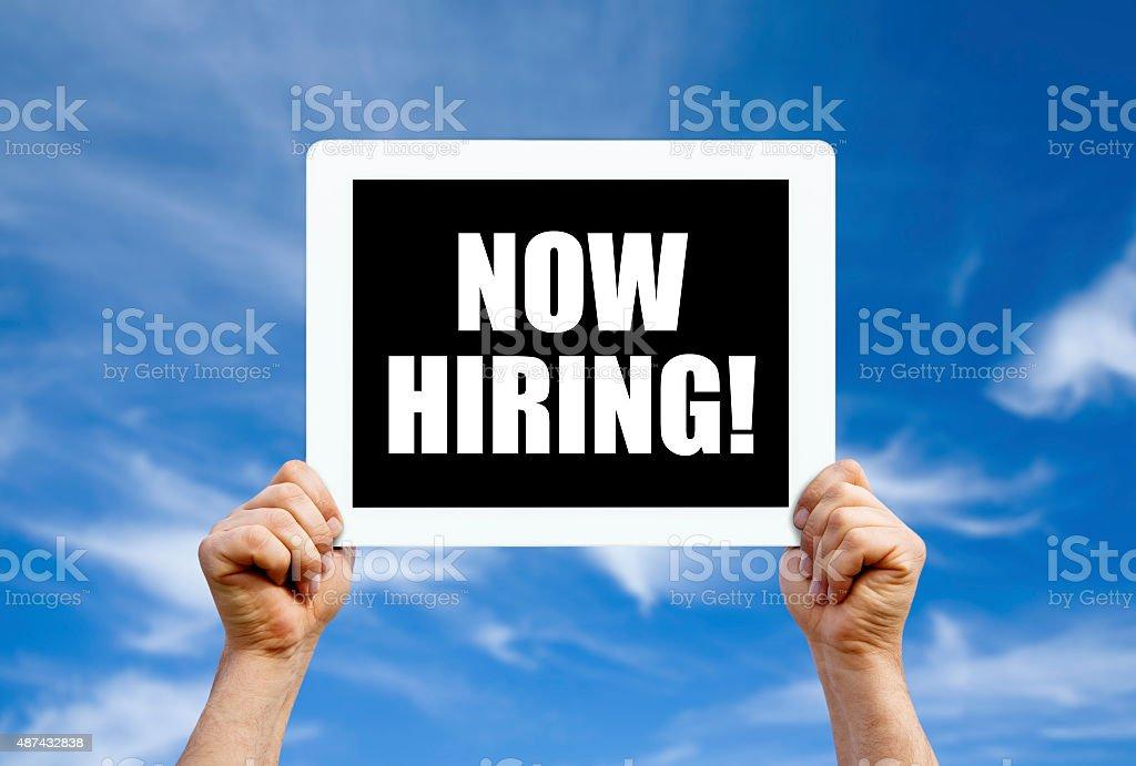 Now hiring stock photo