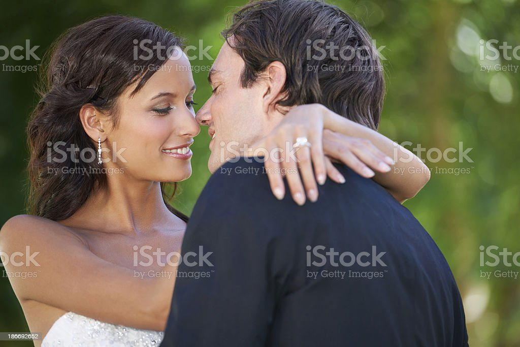 Now I'm truly yours... royalty-free stock photo