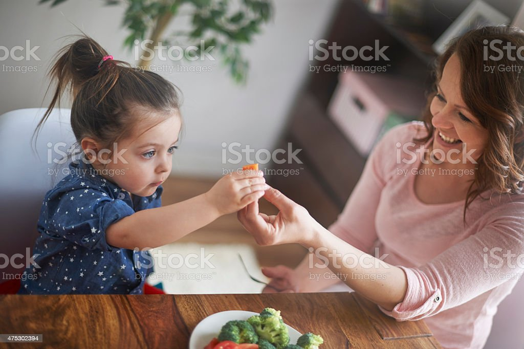 Now is time eat a carrot! stock photo